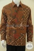 Baju Batik Pria Dewasa Karir Sukses, Hem Batik Full Furing Lengan Panjang, Busana Batik Berkelas Proses Kombinasi Tulis [LP4553BTF-XL]