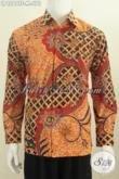 Baju Batik Klasik Mewah Halus Baut Pejabat, Hem Batik Tulis Lengan Panjang Full Furing Motif Terkini Size M [LP6269TF-M]