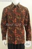 Baju Batik Solo Motif Klasik Model Lengan Panjang, Pakaian Batik Halus Cap Tulis Bahan Adem Model Lengan Panjang Full Furing Tampil Makin Gagah [LP6290CTF-XL]