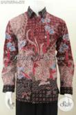 Baju Kerja Batik Mewah Halus Proses Tulis Tangan, Hem Batik Premium Lengan Panjang Motif Bagus Daleman Full Furing, Istimewa Untu Rapat [LP6795TF-L]