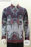 Pakaian Batik Halus Mewah Lengan Panjang Motif Terkini, Produk Baju Batik Solo Nan Istimewa Proses Tulis Tangan Untuk Penampilan Lebih Tampan Dan Mempesona [LP6799TF-XL]