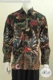 Baju Hem Lengan Panjang Bahan Batik kombinasi Tulis Motif Mewah Daleman Full Furing Untuk Kerja Dan Rapat Tampil Mempesona [LP6882BTF-XXL]