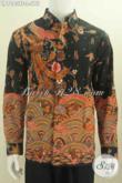 Baju Batik Solo Mewah, Hem Batik Premium Kesukaan Pejabat Dan Para Kesekutif, Model Lengan Panjang Full Furing Motif Tulis Tangan Tampil Lebih Mewah Dan Berkelas [LP7083TF-L]