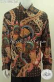 Jual Kemeja Batik Premium Online, Hem Batik Jumbo Halus Motif Mewah Proses Tulis Spesial Untuk Pria Gemuk, Bahan Adem Model Lengan Panjang Pakai Furing [LP7092TF-XXL]