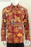 Hem Batik Premium Lengan Panjang Mewah, Busana Batik Full Furing Motif Bagus Proses Tulis Untuk Penampilan Lebih Berkelas [LP7178TF-XL]