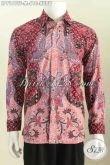 Hem Batik Motif Kupu, Baju Batik Lengan Panjang Premium Buatan Solo Dengan Daleman Full Furing Motif Mewah Proses Tulis Harga 610K [LP7181TF-M]