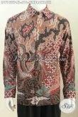 Sedia Baju Batik Mewah Online, Hem Batik Lengan Panjang Motif Mewah Proses Tulis Daleman Full Furing Untuk Pria Sukses Dan Executive [LP7192TF-XL]