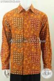 Hem Batik Pria Dewasa Harga 360K, Kemeja Batik Full Furing Lengan Panjang Motif Mewah Proses Cap Tulis Asli Buatan Solo [LP7230CTF-XL]