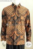 Hem Batik Premium, Baju Batik Pejabat Harga Mahal Kwalitas Istimewa Motif Mewah Proses Full Tulis Soga Lengan Panjang Pake Furing [LP7313TSF-XL]