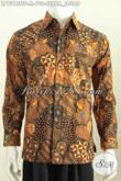 Baju Batik Formal Motif Klasik Sekar Jagad Elegan Dan Mewah Buatan Solo Asli, Hem Lengan Panjang Istimewa Full Furing Di Jual Online Harga 700K [LP7318TSF-M]