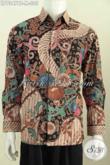 Sedia Kemeja Batik Lengan Panjang Istimewa Asli Dari Solo, Produk Baju Batik Kwalitas Bagus Motif Mewah Proses Kombinasi Tulis Untuk Penampilan Lebih Sempurna [LP7347BT-M]