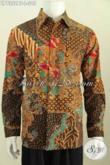 Jual Baju Batik Kerja, Hem Batik Halus Istimewa, Pakaian Batik Solo Halus Lengan Panjang Motif Mewah Untuk Pria Terlihat Gagah Proses Kombinasi Tulis [LP7352BT-L]