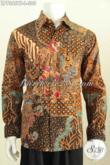 Jual Online Pakaian Batik Cowok, Produk Kemeja Batik Modern Masa Kini Proses Kombinasi Tulis Model Lengan Panjang Daleman Full Furing Harga 305K [LP7355BTF-L]