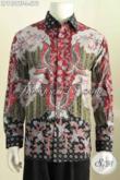 Agen Pakaian Batik Solo Terlengkap, Sedia Kemeja Lengan Panjang Mewah Full Furing Motif Bagus Proses Tulis Hanya 575K [LP7429TF-L]