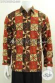 Produk Kemeja Batik Terkini Bahan Halus Motif Elegan Dan Berkelas Proses Cap Tulis Buatan Solo Daleman Pake Furing [LP7449CTF-M]