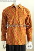 Kemeja Batik Solo Halus Lengan Panjang Motif Liris, Busana Batik Klasik Full Furing Proses Cap Tulis Harga 360K [LP7454CTF-M]