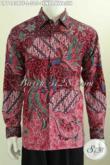 Hem Batik Motif Cendrawasih, Pakaian Batik Elegan Mewah Halus Proses Kombinasi Tulis Model Lengan Panjang Full Furing [LP7483BTF-L]