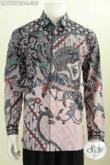 Batik Hem Lengan Panjang Istimewa, Busana Batik Solo Full Furing Motif Terkini Proses Kombinasi Tulis Di Jual Online 305K [LP7707BTF-L]