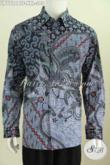 Hem Batik Jumbo, Baju Batik Pria Gemuk Desain Terkini Berbahan Halus Proses Kombinasi Tulis Motif Mewah Hanya 305K [LP7724BTF-XXL]