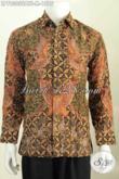 Hem Batik Sutra Mewah Lengan Panjang Full Furing, Pakaian Batik Tulis Halus Lengan Panjang Spesial Untuk Pria Pejabat Dan Eksekutif [LP7830SUATF-M]