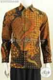 Jual Baju Batik Kerja Mewah Halus, Pakaian Batik Full Furing Model Lengan Panjang Bahan Adem Proses Kombinasi Tulis Untuk Penampilan Makin Gagah [LP7871BTF-S]