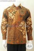 Baju Kemeja Batik Elegan Berkelas Buatan Solo Model Lengan Panjang Motif Klasik Daleman Full Furing Harga 330K [LP7880BTF-M]