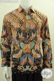 Pakaian Batik Istimewa Untuk Pria Tampil Beda, Busana Batik Solo Halus Full Furing Lengan Panjang Tampil Gagah Mempesona [LP8025TF-M]
