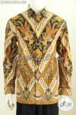 Baju Hem Batik Modis Halus Lengan Panjang Full Furing Motif Klasik Untuk Pria Terlihat Makin Menawan [LP8054BTF-L]