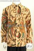 Hem Batik Halus Motif Burung Cendrawasih, Pakaian Batik Solo Halus Bahan Adem Proses Kombinasi Tulis Lengan Panjang Full Furing Asli Dari Solo [LP8056BTF-L]