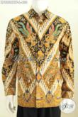 Baju Batik Kerja Lengan Panjang Halus Proses Kombinasi Tulis Motif Klasik Daleman Full Furing Untuk Pria Terlihat Istimewa [LP8058BTF-L]