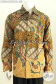 Sedia Kemeja Batik Jumbo Exclusive Untuk Pria Gemuk, Berbahan Halus Model Lengan Panjang Full Furing Harga 430K [LP8064BTF-XXL]