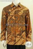 Jual Kemeja Batik Lengan Panjang Full Furing, Baju Batik Klasik Istimewa Bahan Adem Buatan Solo Asli Harga 290K [LP8297BTF-S]