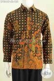 Baju Batik Lengan Panjang Pria Terbaru, Busana Batik Elegan Berkelas Cocok Buat Rapat Dan Kondangan Harga 135K Proses Printing [LP8348P-S]