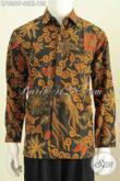 Baju Batik Pria Lengan Panjang Istimewa, Kemeja Batik Murah Kwalitas Mewah Proses Printing Berbahan Halus Hanya 135K [LP8350P-S]