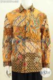 Batik Hem Lengan Panjang Ukuran L Motif Klasik, Kemeja Batik Berkelas Full Furing Proses Kombinasi Tulis Di Jual Online 305K [LP8542BTF-L]