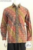 Model Baju Batik Lengan Panjang Pria Terbaru, Busana Batik Halus Elegan Klasik Proses Cap Tulis Harga 230 Ribu [LP8712CT-M]
