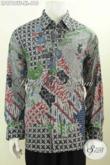 Jual Kemeja Batik Solo Premium Pria Dewasa, Pakaian Batik Halus Mewah Tulis Asli Model Lengan Panjang Full Furing 600 Ribuan, Tampil Makin Sempurna [LP8768TF-XL]