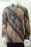 Baju Batik Model Lengan Panjang Modern Motif Klasik, Pakaian Batik Solo Untuk Pria Tampil Berkarakter Harga 148K [LP8970BT-L]