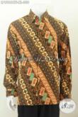 Baju Batik Solo Halus, Kemeja Batik Solo Istimewa Full Furing Model Lengan Panjang Motif Klasik Cap Tulis Harga 300 Ribuan [LP8986CTF-XL]