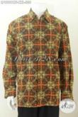 Batik Hem Mewah Halus Lengan Panjang Big Size, Pakaian Batik Full Furing Spesial Buat Pria Gemuk Tampil Gagah [LP8989CTF-XXL]