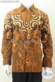 Kemeja Batik Kombinasi Tulis Lengan Panjang Pake Furing, Pakaian Batik Klasik Elegan, Pria Tampil Gagah Menawan [LP9006BTF-L]
