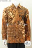 Baju Kemeja Kerja Bahan Batik Klasik Solo Kombinasi Tulis, Pakaian Berkelas Bahan Halus Daleman Full Furing Harga 300K [LP9007BTF-L]