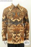 Baju Batik Pria Gemuk, Hem Batik Big Size Lengan Panjang Full Furing Motif Klasik Kombinasi Tulis Harga 300K [LP9012BTF-XXL]