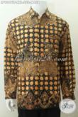 Hem Lengan Panjang Pria Bahan Batik Tulis Motif Naga, Busana Batik Full Furing Halus Big Size, Spesial Untuk Pria Gemuk Eksekutif [LP9049TF-XXL]