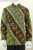 Kemeja Batik Klasik Lengan Panjang Full Furing Motif Parang, Pakaian Batik ELegan Proses Cap Tulis, Pas Untuk Acara Resmi [LP9173CTRF-L]