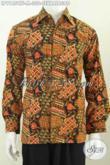 Batik Hem Klasik Solo Spesial Buat Lelaki Muda Motif Sekarjagad Proses Cap Tulis, Berbahan Halus Full Furing Hanya 330 Ribu [LP9185CTF-M]