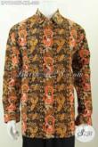 Baju Batik Ukuran Jumbo, Kemeja Batik Elegan Lengan Panjang Mewah Halus Full Furing, Spesial Untuk Lelaki Gemuk Terlihat Mempesona [LP9194CTF-XXL]