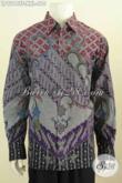 Batik Hem Mewah, Baju Batik Istimewa Untuk Lelaki Gemuk, Busana Batik Tulis Big Size Lengan Panjang Full Furing Motif Klasik, Tampil Makin Berkelas [LP9218TF-XXL]