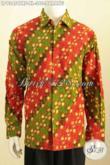Baju Batik Klasik Motif Parang Kwalitas Premium, Hem Batik Lengan Panjang Full Furing Cap Tulis Harga 360K, Pantas Buat Ke Kantor [LP9345CTRF-XL]