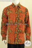 Baju Batik Big Size, Hem Batik Elegan Untuk Pria Gemuk Sekali, Produk Baju Batik Cap Tulis Motik Klasik Lengan Panjang Full Furing, Cocok Untuk Acara Resmi [LP9347CTRF-XXXL]